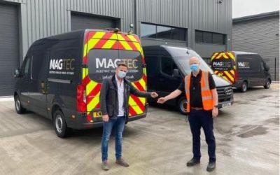 Magtec expands its EV service fleet with 3 new vans from ETRUCKS